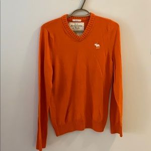 A&F   Boys Orange Knitted sweater